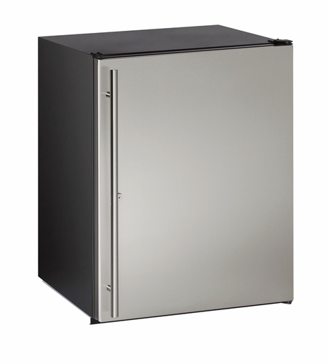 "ADA24RS13B U-Line ADA Series 24"" ADA Solid Door Refrigerator with Lock - Field Reversible - Stainless Steel"