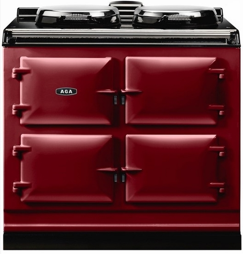 """ADC3ECLT Aga 39"""" Dual Control Electric 3 Range with Cast Iron Ovens - Claret"""