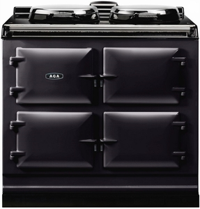 """ADC3GBLK Aga 39"""" Dual Control Natural Gas 3 Range with Cast Iron Ovens - Black"""
