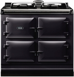 "ADC3GBLK AGA 39"" Dual Control Natural Gas 3 Range with Cast Iron Ovens - Black"