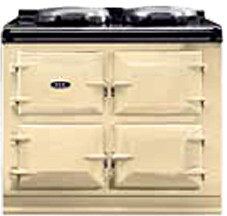 "ADC3GCRM AGA 39"" Dual Control Natural Gas 3 Range with Cast Iron Ovens - Cream"