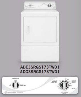 Ade3srgs173tw01 Speed Queen Electric Dryer With Commercial Steel