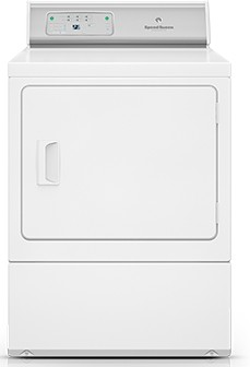 ADEE9RGS173TW01 Speed Queen 7.0 Cu. Ft. Electric Dryer with Commercial Grade Controls & 8 Cycles - White