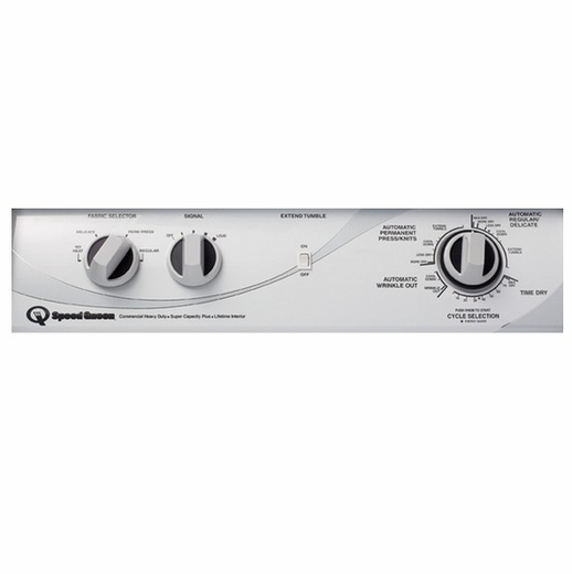 ADG4BR Speed Queen 7 Cu. Ft.  Rear Control Gas Dryer - 4 Cycles - White
