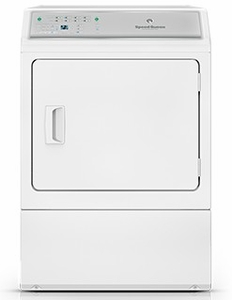 ADGE9BGS113TW01 Speed Queen 7.0 Cu. Ft. Gas Dryer with Front Commercial Grade Controls & 8 Cycles - White