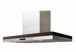 """ADLM90BSX Zephyr 36"""" Island Mount Chimney Range Hood with Blower Options - Stainless Steel"""