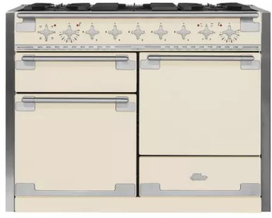 """AEL48DFIVY AGA 48"""" Elise Dual Fuel 3 Oven Range with 5 Sealed Burners and Storage Drawer - Ivory"""