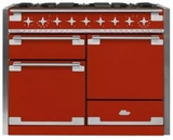 "AEL48DFSCR AGA 48"" Elise Dual Fuel 3 Oven Range with 5 Sealed Burners and Storage Drawer - Scarlet"