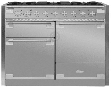 """AEL48DFSS AGA 48"""" Elise Dual Fuel 3 Oven Range with 5 Sealed Burners and Storage Drawer - Stainless Steel"""