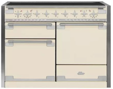 "AEL48INIVY AGA 48"" Mercury Induction 3 Oven Range with 5 Burners and True European Convection - Ivory"