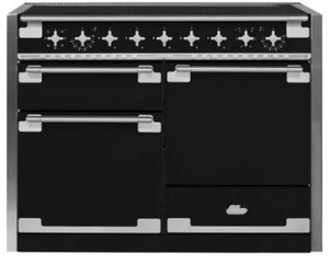 """AEL48INMBL AGA 48"""" Elise Induction 3 Oven Range with 5 Burners and True European Convection - Matte Black"""