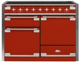 """AEL48INSCR AGA 48"""" Mercury Induction 3 Oven Range with 5 Burners and True European Convection - Scarlet"""