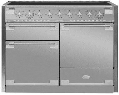 "AEL48INSS AGA 48"" Mercury Induction 3 Oven Range with 5 Burners and True European Convection - Stainless Steel"