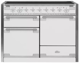 "AEL48INWHT AGA 48"" Elise Induction 3 Oven Range with 5 Burners and True European Convection - White"
