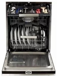 """AELTTDWSS AGA 24"""" Elise Fully Integrated Tall Tub Dishwasher with Smartsoil Sensor and Wave-Touch Controls - Stainless Steel"""