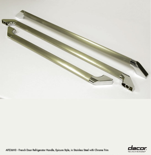"""AFE36H3LCH Dacor Epicure 36"""" Freestanding French Door Refrigerator Handles in Chrome Trim, set of 3"""