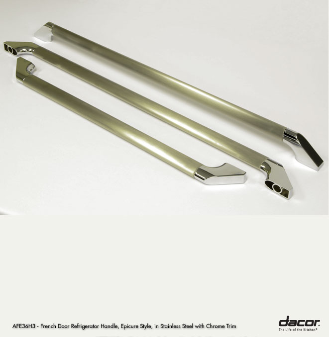 AFE36H3LCH Dacor Epicure 36\ Freestanding French Door Refrigerator Handles  In Chrome Trim Set Of 3 Sc 1 St US Appliance