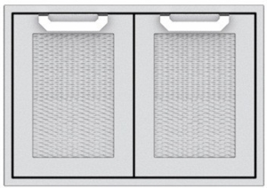 "AGAD36 Hestan 36"" Double Access Door with Welded Body Construction, Commercial Grade Handles and Soft Close Door Hinges - Marquise - Stainless Steel"