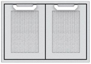 """AGAD42 Hestan 42"""" Double Access Door with Welded Body Construction, Commercial Grade Handles and Soft Close Door Hinges - Marquise - Stainless Steel"""