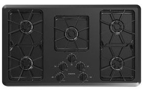 "AGC6356KFB Amana 36"" Gas Cooktop With Front Controls - Black"