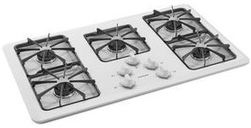 "AGC6356KFW Amana 36"" Gas Cooktop With Front Controls - White"