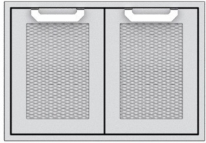 """AGSD30 Hestan 30"""" Double Storage Doors - Marquise -  Stainless Steel"""