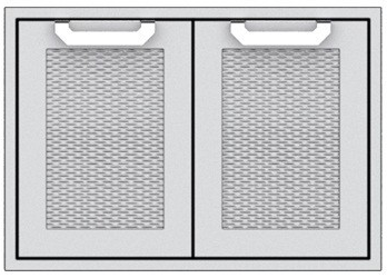 """AGSD36 Hestan 36"""" Double Storage Doors - Marquise -  Stainless Steel"""