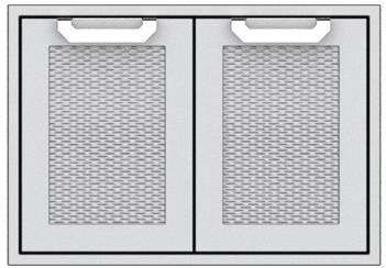 "AGSD42 Hestan 42"" Double Storage Doors  - Marquise -  Stainless Steel"