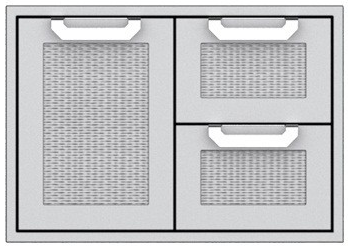 """AGSDR30 Hestan 30"""" Double Drawer and Storage Door Combination  - Stainless Steel"""