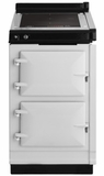 "AHCINWHT AGA 20"" Freestanding Electric Cooker with Induction Top and Touch Controls - White"