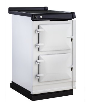 """AHCINWHT Aga 20"""" Freestanding Electric Cooker with Induction Top and Touch Controls - White"""