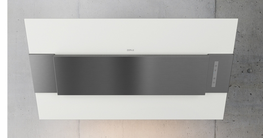 """AINM80AWX Zephyr Arc Collection 32"""" Incline Wall Hood - White with Stainless Steel"""