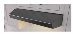 """AK1200BBS Zephyr 30"""" Breeze II Under Cabinet Range Hood with 175-400 CFM Blower and Aluminum Filters - Black Stainless Steel"""
