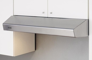 "AK1200BW Zephyr 30"" Breeze II Under Cabinet Range Hood with 175-400 CFM Blower and Aluminum Filters - White"