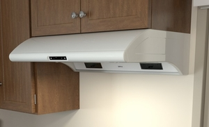 "AK2100BW Zephyr 30"" Power Typhoon Under Cabinet Range Hood with 850 CFM Blower - White"