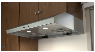 """AK6500BS Zephyr 30"""" Under Cabinet Range Hood with Mechanical Slide Controls and 600 CFM Internal Blower - Stainless Steel"""