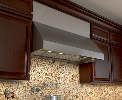 """AK7542BS Zephyr Power Tempest II 42"""" Wall Mount Range Hood with Pro-Baffle Filters - Stainless Steel"""