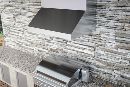 """AK7854BS Zephyr Power Cypress 54"""" Outdoor Wall Mount Range Hood with 1200 CFM Blower - Stainless Steel"""
