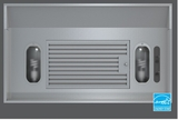 "AK9028AS-ES Zephyr 28 3/8"" Vortex ES 290 CFM One Piece Hood Liner with Adjustable Depth - Energy Star - Stainless Steel"