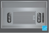 "AK9034AS-ES Zephyr 34 3/8"" Vortex ES 290 CFM One Piece Hood Liner with Adjustable Depth - Energy Star - Stainless Steel"