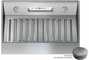 """AK9228AS290 Zephyr Monsoon I One Piece 28"""" 290 CFM Hood Liner with Horizontal Ducting Option - Stainless Steel"""