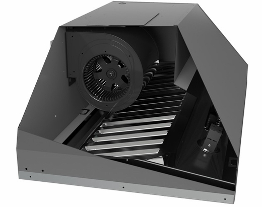 """AK9240AS Zephyr Power Monsoon I One Piece 42"""" Hood Insert with RF Remote - Stainless Steel"""