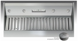 "AK9334AS Zephyr Monsoon II 34"" 1200CFM One-Piece Insert - Stainless Steel"