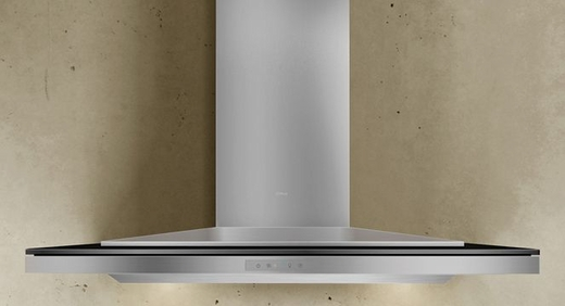 """ALAM90BBX Zephyr Arc Collection Layers Designer 36"""" Wall Hood - Stainless Steel and Black"""