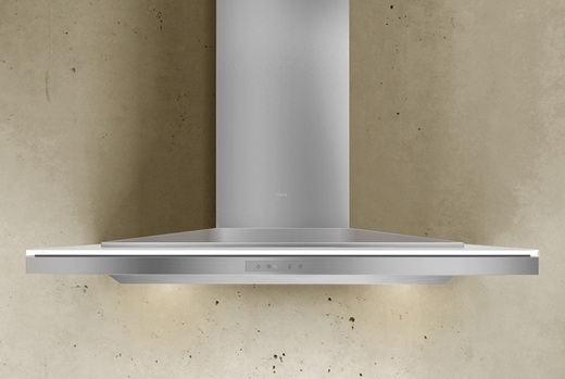 """ALAM90BWX Zephyr Arc Collection Layers Designer 36"""" Wall Hood - Stainless Steel and White"""