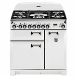 "ALEBS36DFVWT AGA 36"" Legacy Dual Fuel Range with Broiling Oven - White"