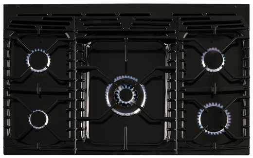 """ALEG36DFBLK AGA 36"""" Legacy Dual Fuel Range with Broiling Oven - Black"""