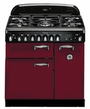 """ALEG36DFCRN AGA 36"""" Legacy Dual Fuel Range with Broiling Oven - Cranberry"""