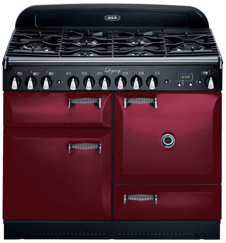 """ALEG44DFCRN AGA 44"""" Legacy Dual Fuel Range with Convection Oven - Cranberry"""