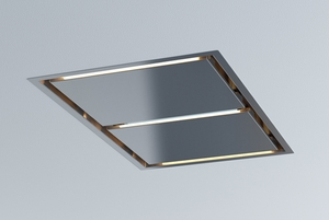 "ALUE43ASX Zephyr Arc Collection 43"" In-Ceiling Lux Island Hood - Stainless Steel"